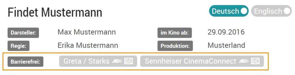 Barrierefrei - Sennheiser CinemaConnect System - GRETA - STARKS
